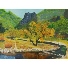 Cool Morning - Original Acrylic Painting  -21 Inch Height * 28 Inch Width