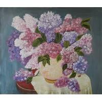 Hydrangea flower Original Acrylic Painting 24 Inch Height * 28 Inch Width